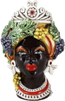 Teste Regina Autunno quattro stagioni Ceramiche di caltagirone