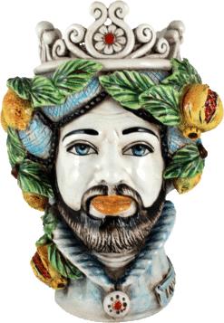 Teste di Moro Inverno quattro stagioni Ceramiche di caltagirone