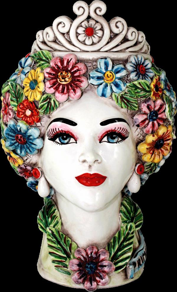 Teste Regina Primavera quattro stagioni Ceramiche di caltagirone
