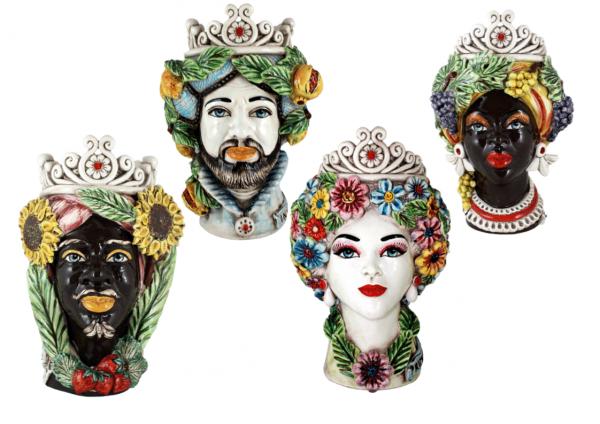 Teste di Moro Re Regina quattro stagioni Ceramiche di caltagirone