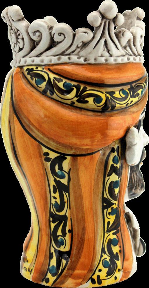 teste di moro, testa di moro, ceramiche italiane, ceramiche siciliane, vasi portafiori, portapiante, vasi,