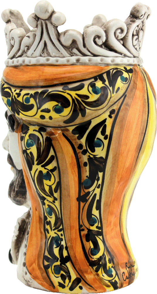 teste di moro di caltagirone, ceramiche di caltagirone, ceramiche siciliane, teste siciliane, testa in ceramica