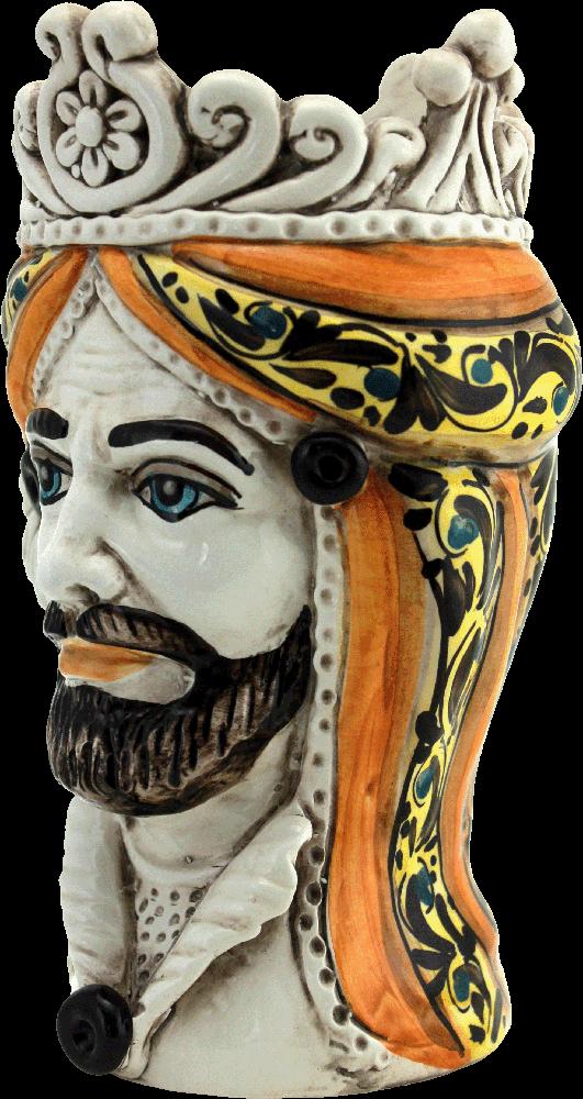 vasi a formadi teste, ceramica fatta a mano, caltagirone, sicilia, 95041, ceramics