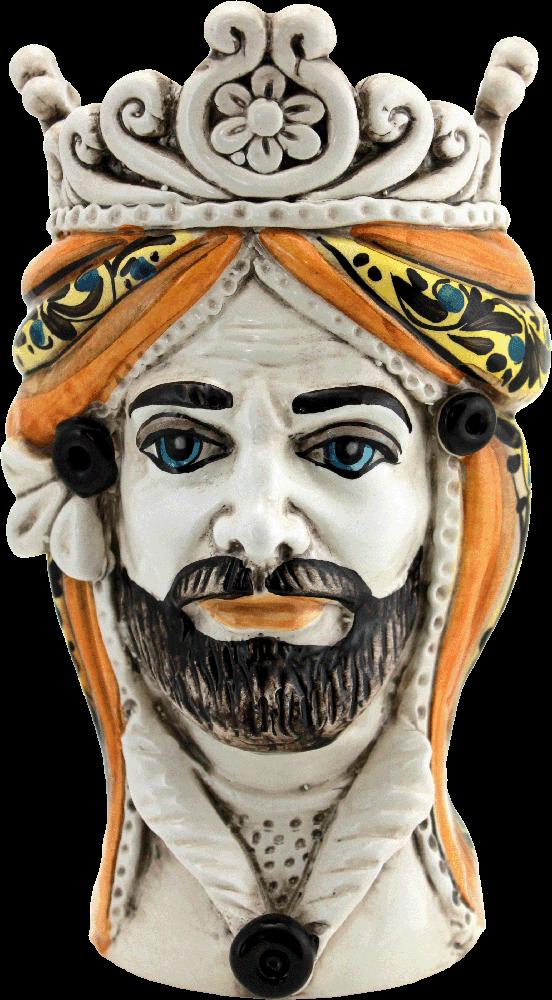 Testa di Moro Caltagirone, vendita ceramiche, ceramiche di caltagirone, vasi in ceramica siciliana, teste siciliane, produzione ceramica,