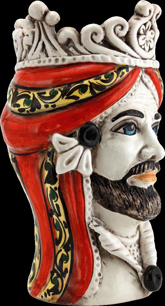 teste di moro, ceramica di caltagirone, storia delle teste di moro, teste in ceramica, negozio di ceramica