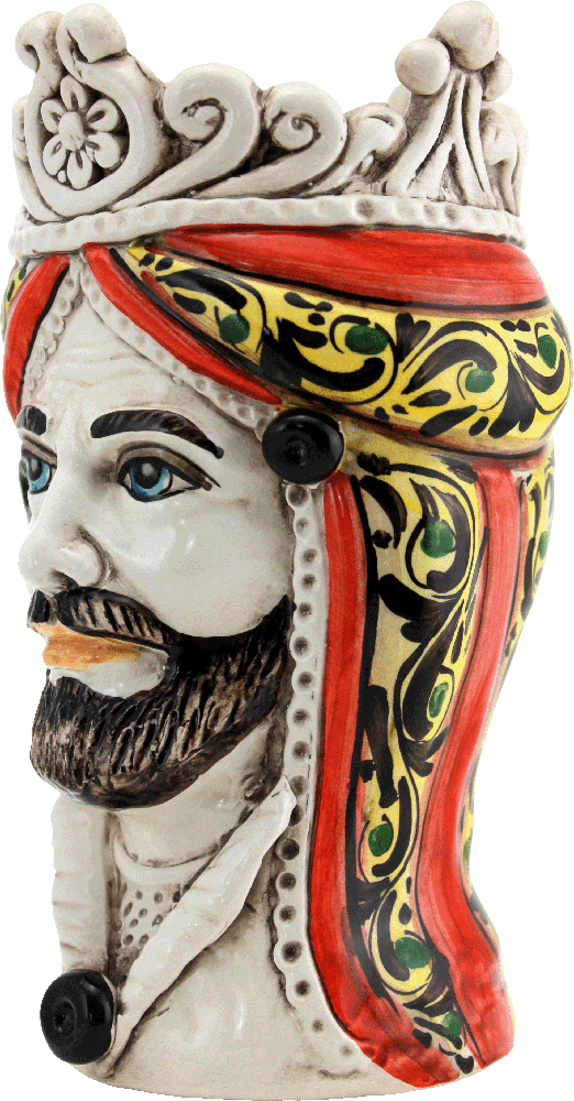 teste di moro in ceramica, ceramica siciliana, vasi portapianta, regali per gli sposi, idea regalo