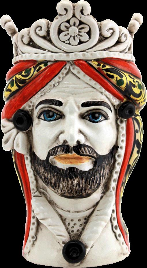 testa di moro in ceramica di caltagirone, teste in ceramica, teste siciliane, ceramic, ceramics of sicily, ceramic of caltagirone, produzione di ceramica