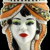 testa di moro regina, testa moro donna, regina in ceramica, figurine in ceramica, sculture in ceramica