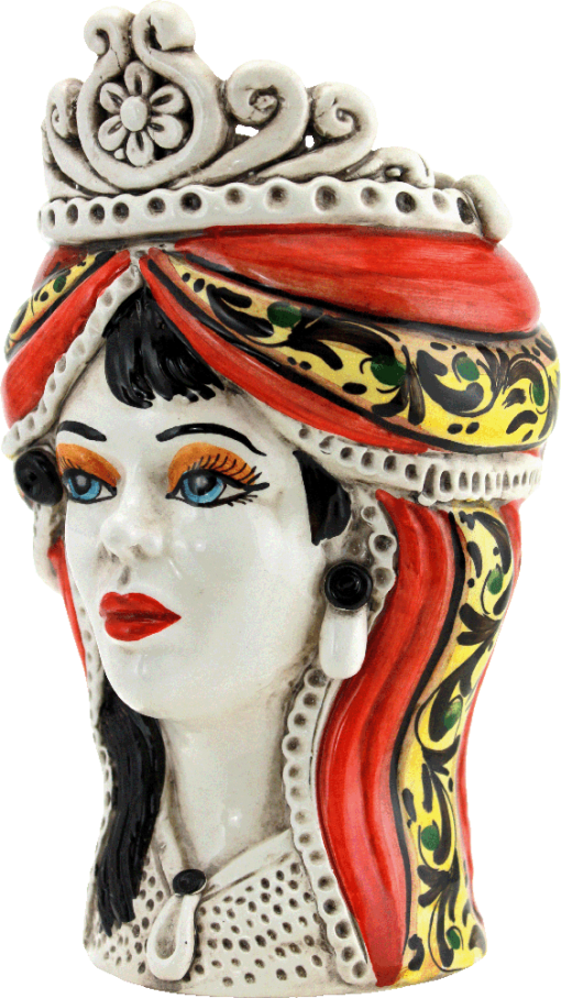 testa di donna in ceramica, vasi in ceramica, oggetti in ceramica per la casa, decorazione interni, arredo casa, arredamenti in ceramica, design ceramica