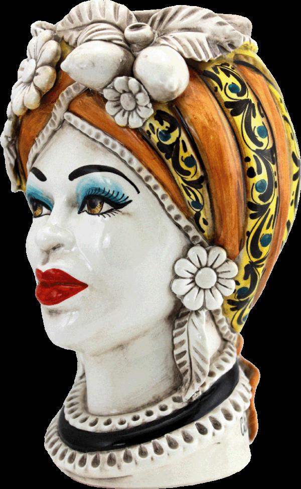 testa regina in ceramica di caltagirone
