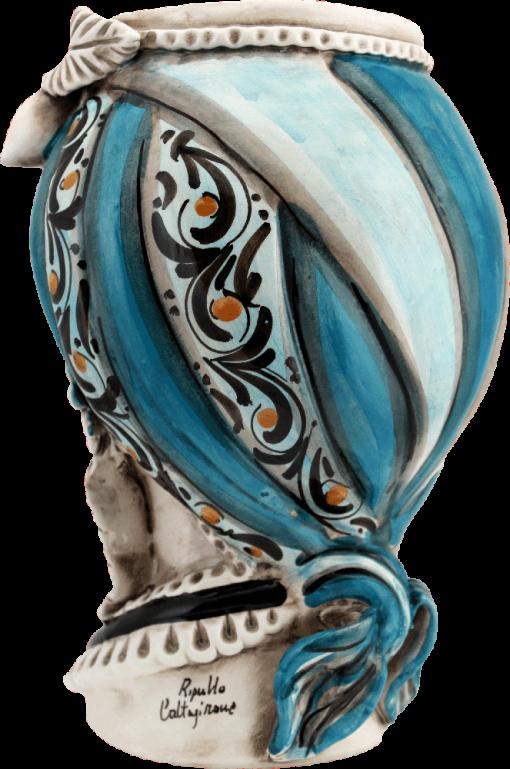 portavasiin ceramica caltagirone portapiante in ceramica caltagirone, i migliori ceramisti di caltagirone, maestro di ceramica siciliana, immagini di teste, arredare casa,