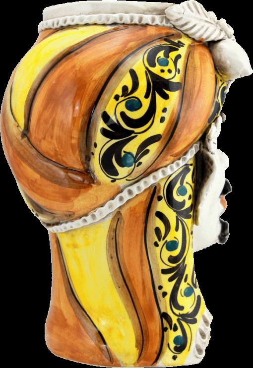vaso a forma di testa, ingrosso teste di moro, ingrosso ceramiche, ingrosso ceramiche caltagirone, vasi in ceramica